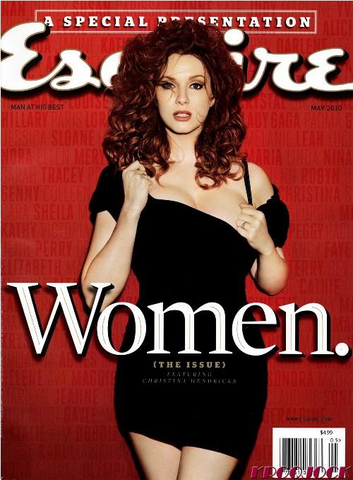 Christina Hendricks in Esquire, May 2010