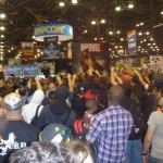 Marvel Comics had the crowd going bananas all day with free giveaways