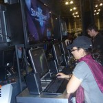 Gamers testing Star Craft at the Intel booth