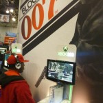 A fan getting it in with the new Xbox 360 version of 007 Blood Stone
