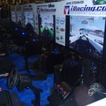iRacing.com setting up their session at the Intel booth