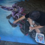 Incredible chalk art for Toonzaki.com
