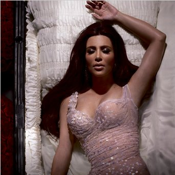 Kim Kardashian is Dead!? Diva's Postmortem Pose for Alicia ...
